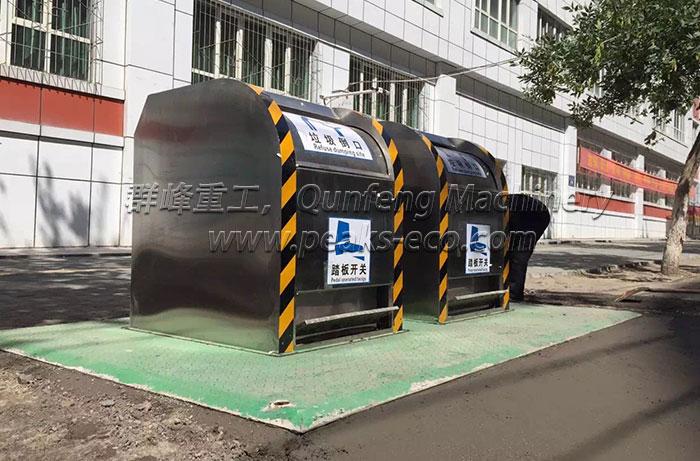 Intelligent Solar Energy Underground Trash Bin