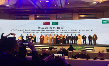 Our company signed a strategic cooperation agreement with the Saudi government