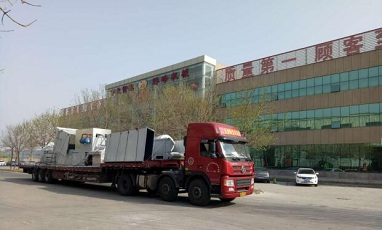 Peaks Eco FDY-850B full automatic baler machine is shipping to France Valeo company
