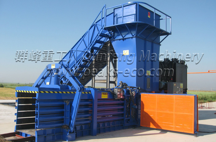 Why the press head of hydraulic baler does not return back?