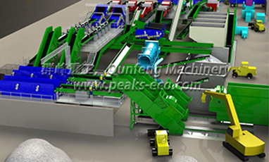 Garbage Drying and Mechanical Sorting