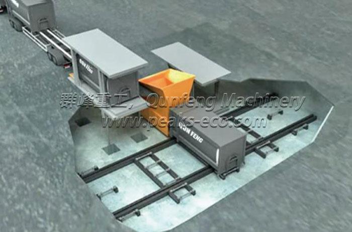 Underground Horizontal Waste Transfer Station System