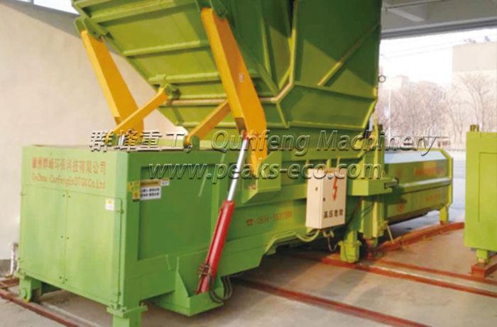 Horizontal Detachable Waste Compress Equipment