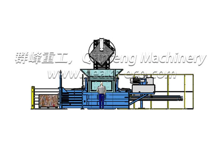 FDY 1250 E Semi Automatic Baler Door Closed