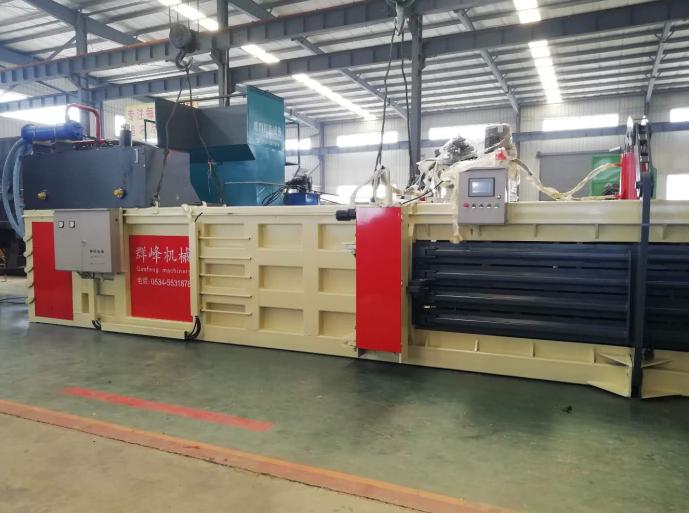 recycling baling machine