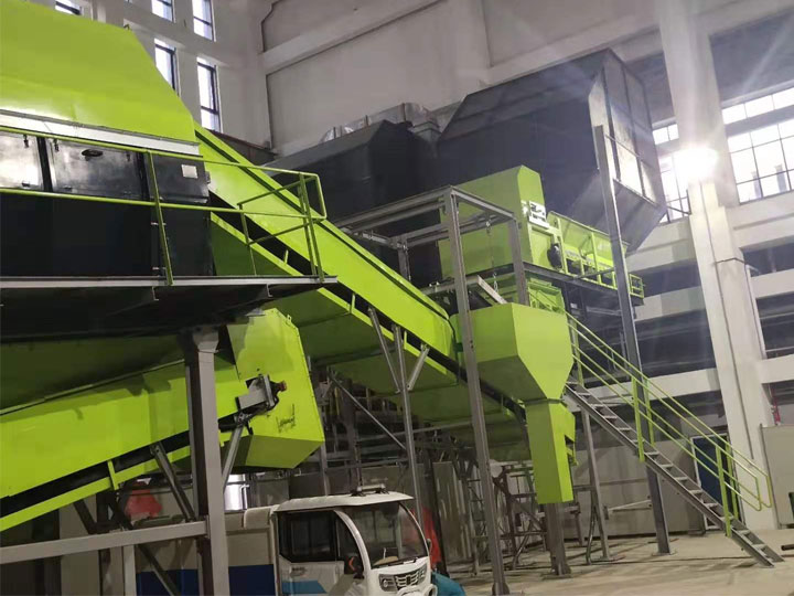 Fuzhou kitchen waste sorting project display