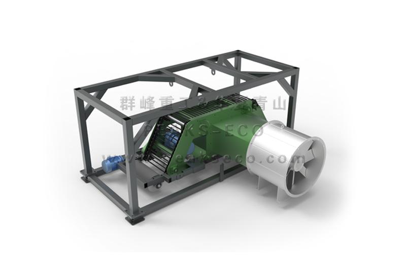 Negative pressure air separator